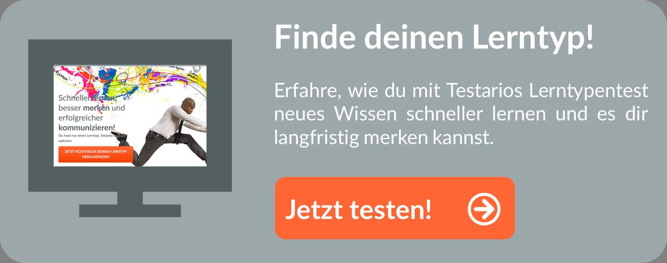 Jetzt Lerntypentest auf Testario.com machen
